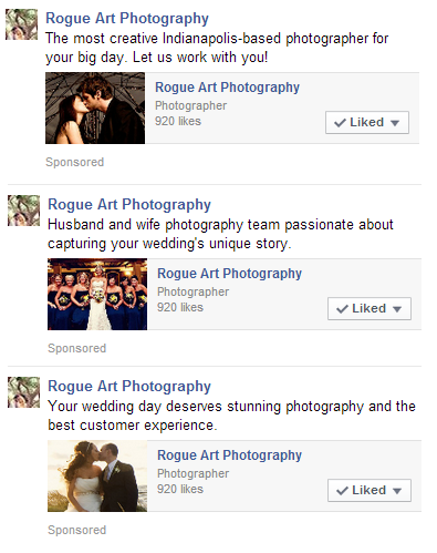 The Ads Were Targeted At Engaged Women Within 50 Miles Of Indianapolis To Directly Work Toward Achieving Photographers